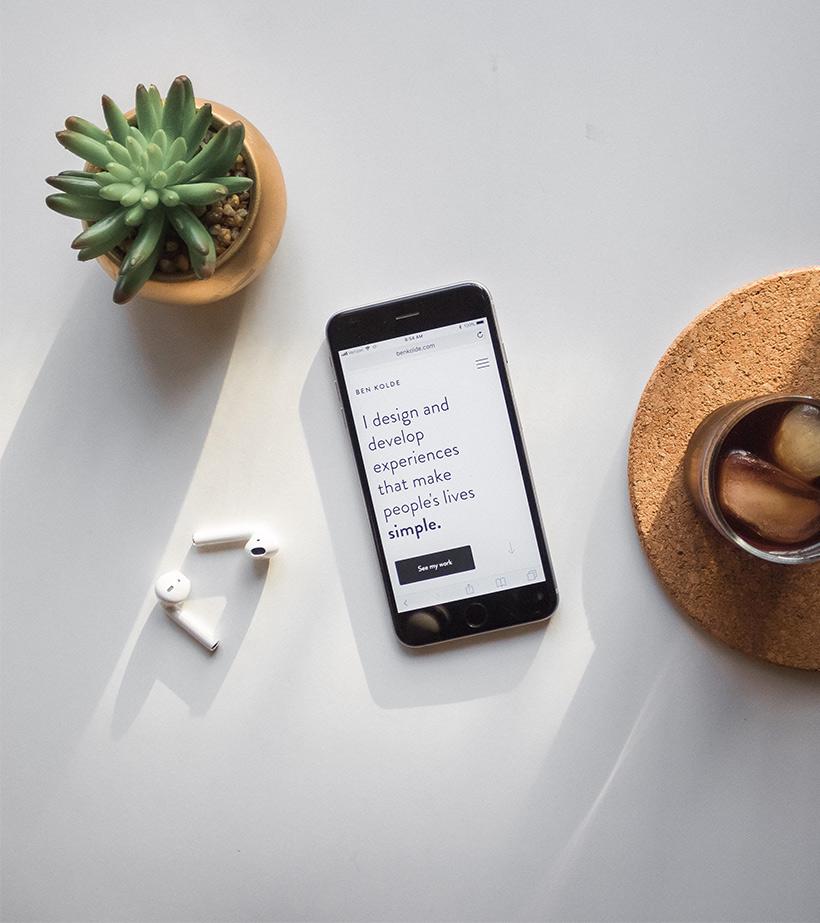 Design d'un site mobile