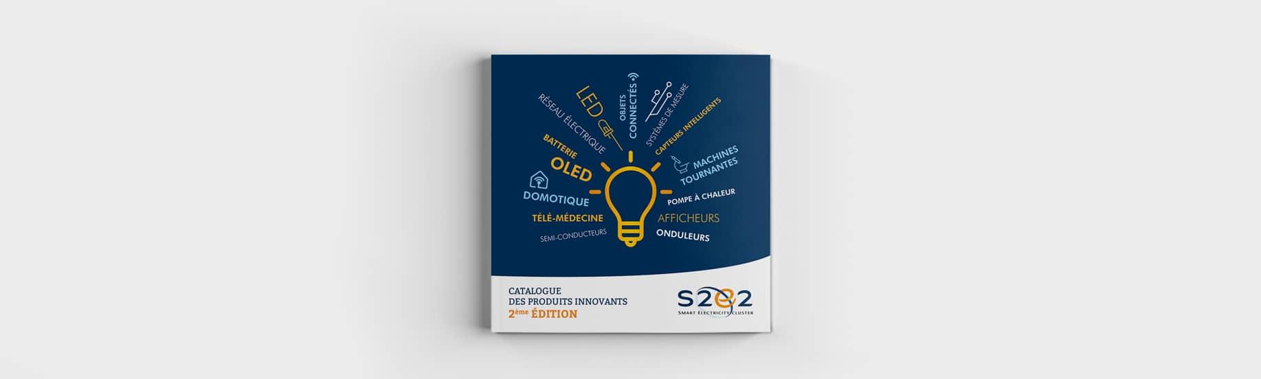 Design et mise en page de la couverture du livret dépliant S2E2 Tours