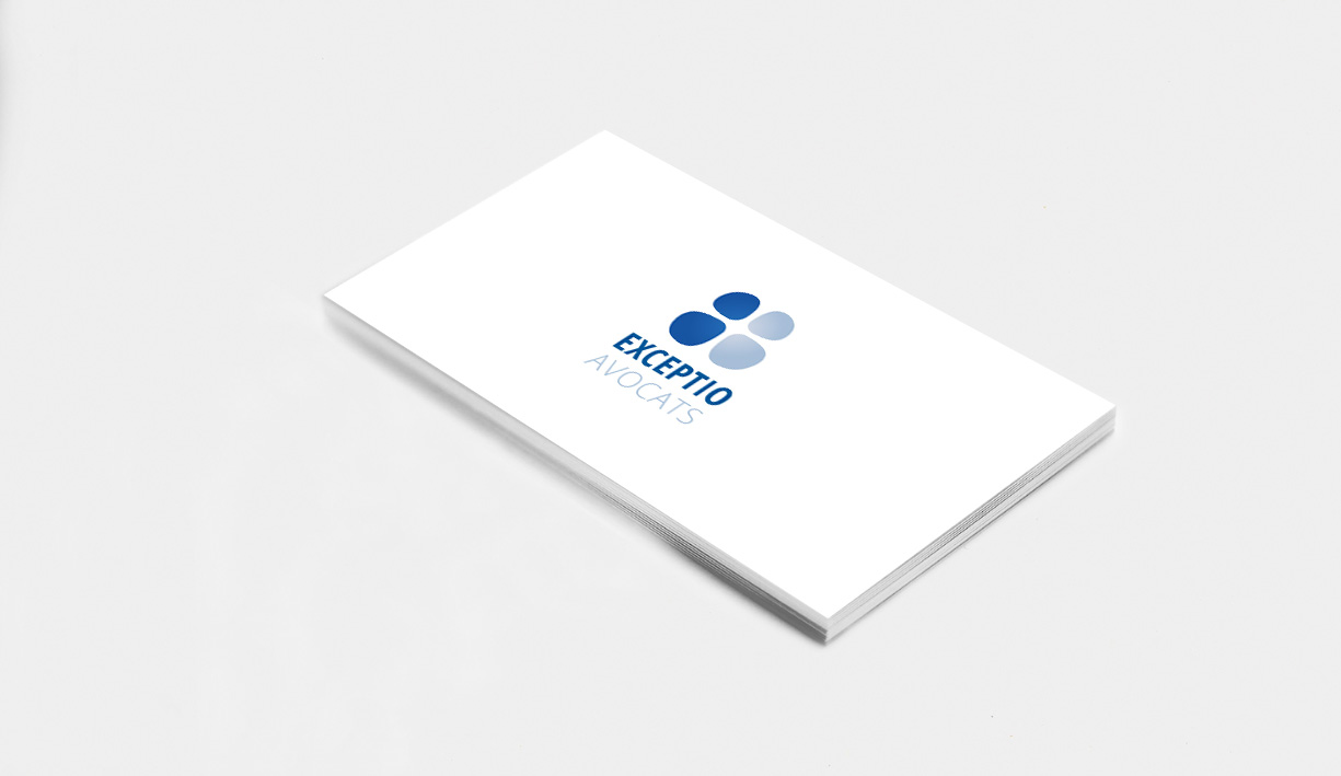 Logotype et identité visuelle de la structure Exceptio avocats à Tours et Paris