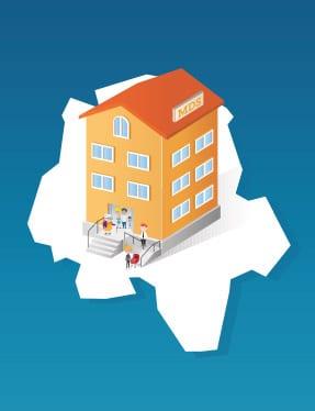Illustration du design des maisons de solidarité
