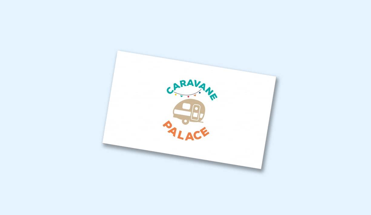 Carte de visite avec logotype et identité de caravane palace