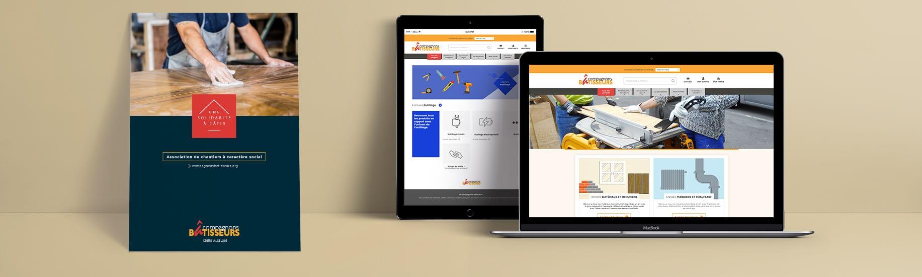Charte graphique sur dépliant et site internet responsive