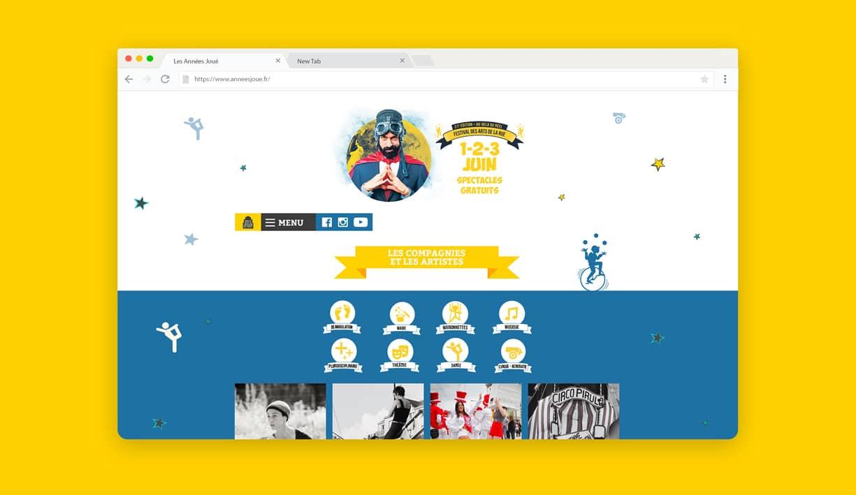 Page compagnies du site des Années Joué