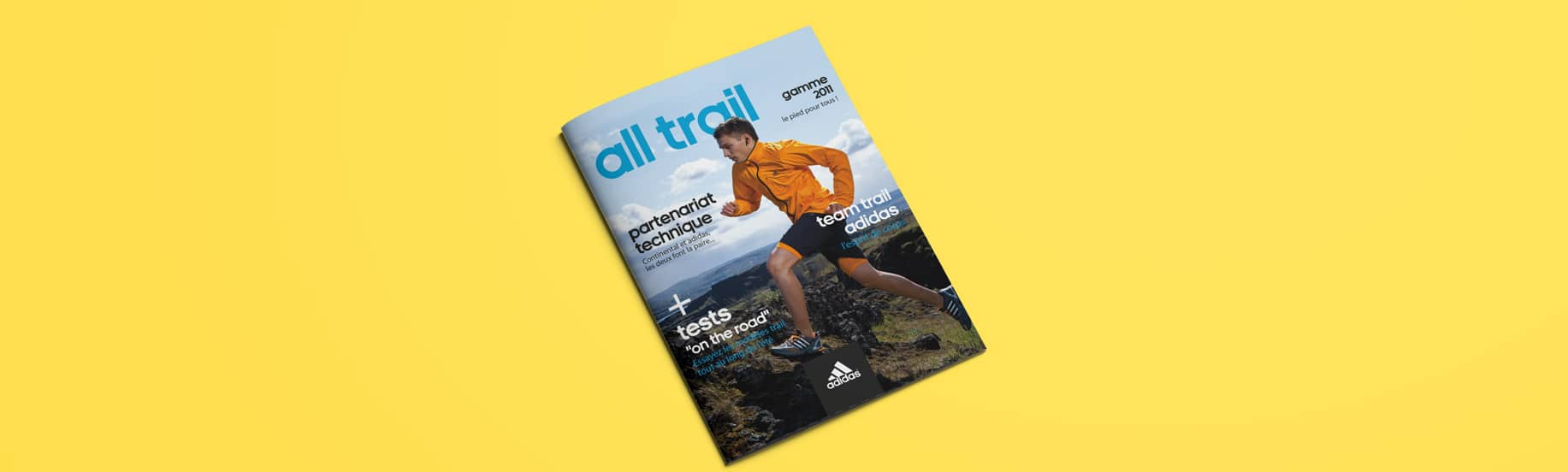 Couverture de magazine adidas all trail