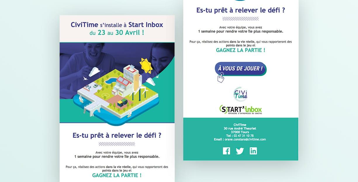 Campagne de mailing d'information Civitime