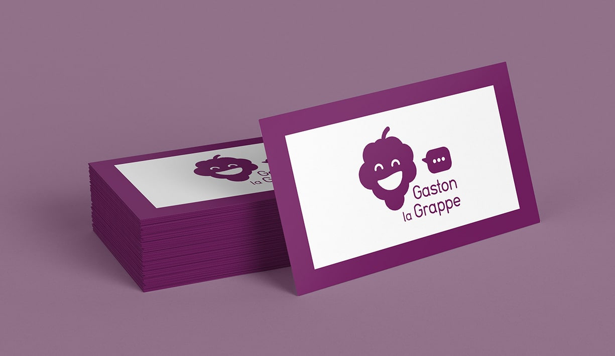 Illustration, Logotype et identité de Gaston La grappe. Robot d'auto réponse sur Facebook.
