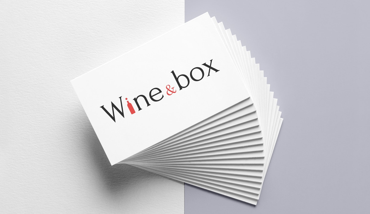 logo et carte de visite wine and box