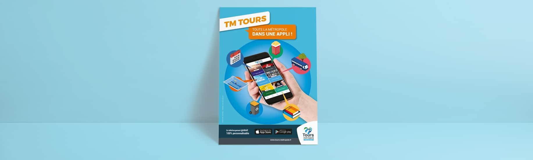 Affiche de la campagne TM Tours
