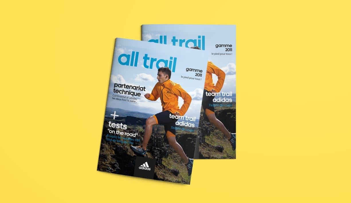 Couverture du magazine trail adidas