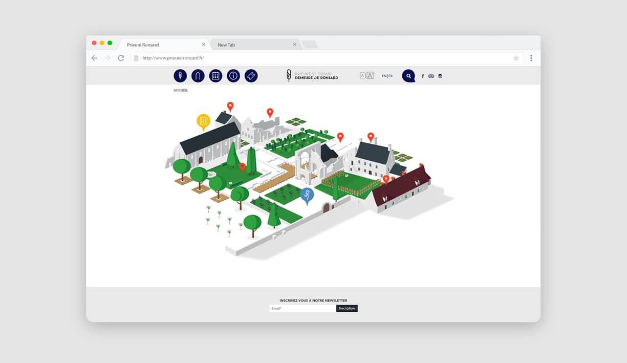 accueil du site et carte interactive