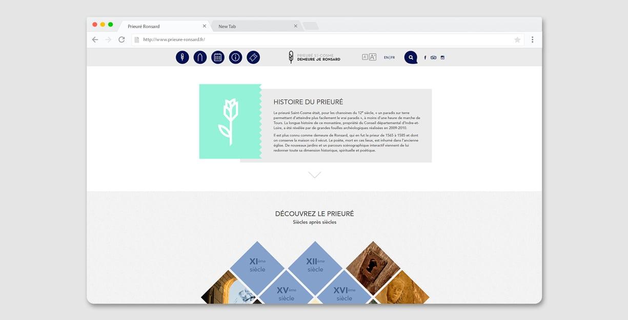 Page histoire du site web