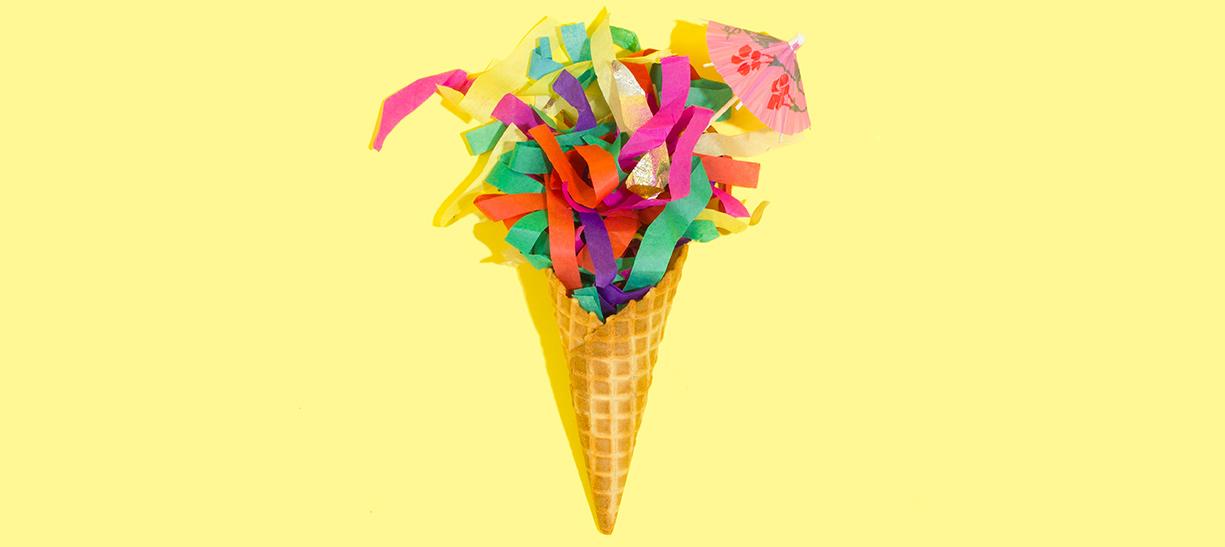 Cone de glace coloré