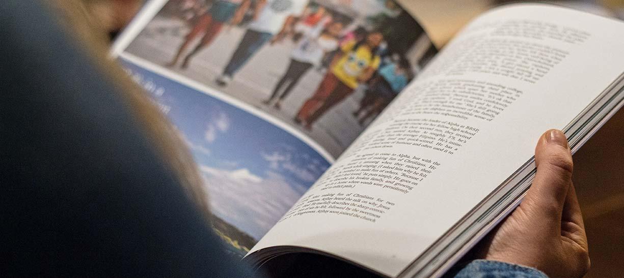 double page de magazine