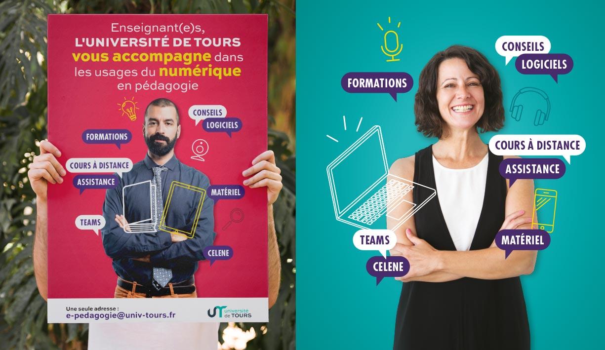 Visuel de publicité de l'uuniversité de Tours