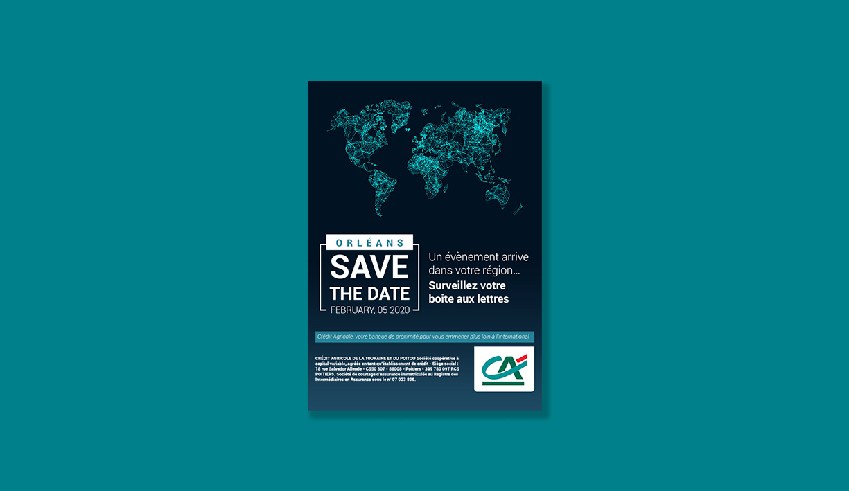 Design d'un save the date emailing