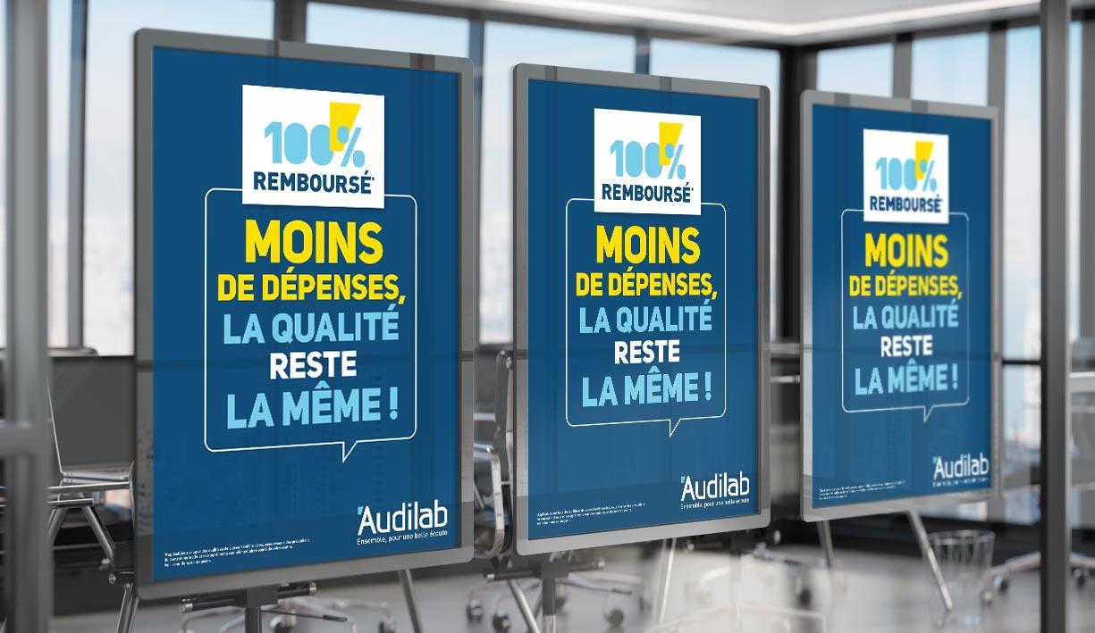 Visuel de la campagne santé Audilab