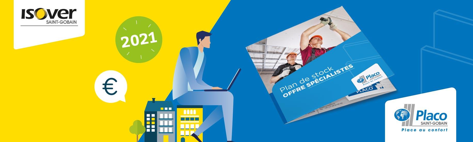 Design et mise en page de la brochure et plans de stock Isover et Placo